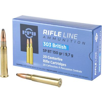 ppu rifleline 303 british 180gr ammo